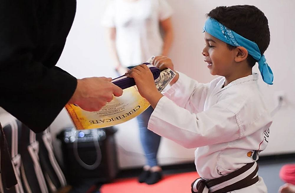 Pouncing Tigers Martial Arts Academy kids promotion